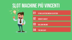 slot machine più vincenti infografica