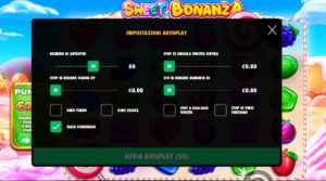 sweet bonanza autoplay menù